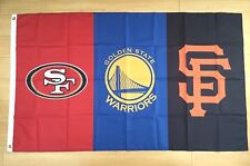 Bay Area Teams San Francisco 49ers Giants Golden State Warriors Flag - 3x5 FT