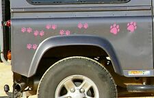 28 light Pink PAW PRINT STICKERS Car Wall Stickers Decals Graphics Cat Dog
