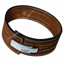 ARD CHAMPS™ Weight Power Lifting Leather Lever Pro Belt Gym Training Brown