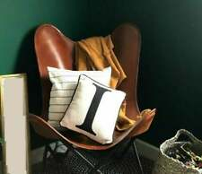 Vintage Classic Leather Butterfly Chair Home Décor Living Room Chair Handmade