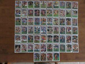 1992 REGINA AFL CARDS X 64. PART SET. NO DOUBLES.  LONG. HOCKING. STYNES.