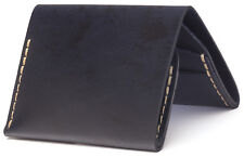 Bison Made No. 4 Slim Bi-fold Wallet in Navy, Made in America