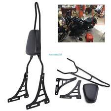Detachable Sissy Bar Backrest Pad Passenager For Harley Sportster 883 1200