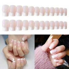 French Fake Nails Full Nail Tips 24 Pieces Finger Press-On Nails Decoration