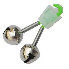 6 Pezzi Canna da pesca Bait Suggerimento verde tono argento doppio anello c Q8V0