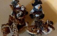 4 Boyds Resin Vtg Ornaments