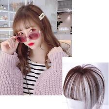 3D Thin Neat Air Bangs Clip In Fringe Front Hairpiece Real Human Hair Extensions