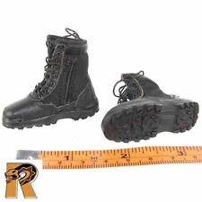 SWAT Pointman Denver - Black Boots (for Feet) - 1/6 Scale - DID Action Figures
