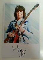 """THE ROLLING STONES - Bill Wyman 6""""X4"""" Autograph Reproduction Glossy Picture"""