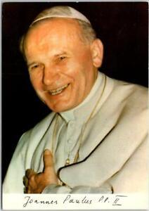Vintage POPE JOHN PAUL II Postcard w/ 1981 Vatican Cancel Italy Catholic Church