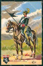 Militari Reggimentali VI Lancieri di Aosta Cervi cartolina XF2123