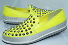 New Prada Women's Shoes Flats Loafers Size 39.5 Nappa Sport Lux Tennis Yellow