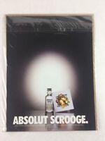 Absolut Scrooge Vodka 1998 Vintage Art Print Collectible Advertisement 8.25 x 11