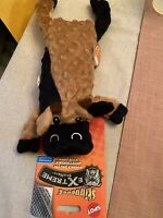 "SKINNEEEZ - Extreme Stuffers Cow Dog Toy Brown 14"" Stuffing Free - New"