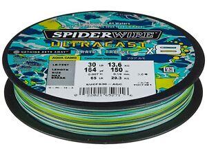 Spiderwire Ultracast Braid x8  Superline, 100 lb test, 164 yd, Aqua Camo 150 m