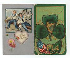 lot of nine old holiday postcards c. 1900-1910 * Valentine's Day * St. Patrick's