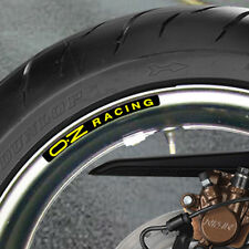 OZ RACING WHEEL RIM STICKERS CHOICE OF COLOURS - carbon lightweight magnesium