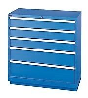 LISTA XSHS0900-0501 - HS900 5-Drawer Counter Height  Cabinet,Shallow Depth