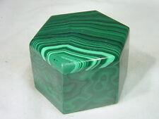 BUTW  Malachite jewelry box lapidary carving 5599B