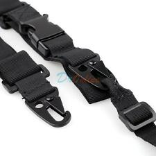 Black Color Tactical 3-Point Rifle Gun Sling Strap Lanyard Hook for Hunting