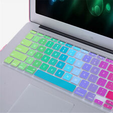 Rainbow Silicone Computer Keyboard Skin Case Cover For Macbook Pro Air Mac
