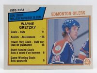 1983-84 OPC O Pee Chee Wayne Gretzky 22 Edmonton Oilers Hockey Card F082