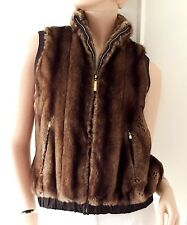 ST JOHN Faux Fur Winter Vest Jacket (retail £1,100)