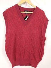 Alan Stuart Men's Vintage sweater vest red style 6606  size XL NWT NEW