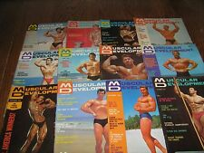 Lot Of 12 Muscular Development Bodybuilding Magazines/1966 COMPLETE YEAR