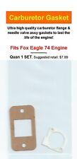 Aftermarket CC to Carb & Needle Valve Assy Gasket 2 PC SET Fits Fox Eagle 74 NIP