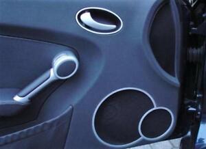Brushed Alu Rings for Door Loudspeakers for Mercedes Benz SLK R171 Interior Trim