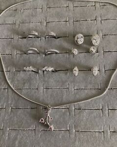 Bargain Job Lot. Brand New 8 Pieces Sterling Silver Earrings/Pendant.