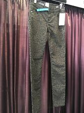 Hurley Ladies Juniors Leopard Denim Pants 81 Skinny Punk Rock Cotton Twill RARE