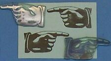 Pointing Fingers set of 2 rubber stamps by Amazing Arts
