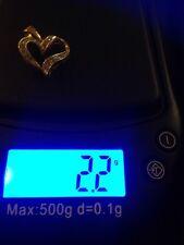 10k Diamond Heart Charm A1
