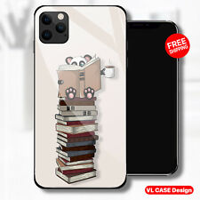 Panda Reading Books Coffe Glass Phone Case Samsung Huawei iPhone Xiaomi Gif Idea