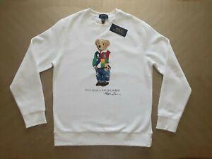 Polo Ralph Lauren Sport Bear White Sweatshirt L (14-16 y.o.) =women sz S =sz 4 6
