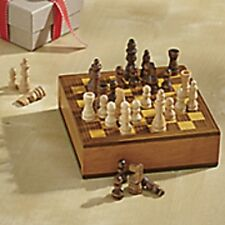 """Personalized Chess/Checkers """"I Love Chess"""" Engraved Wood Traveling Box Set"""