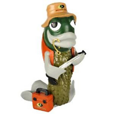 "Mossy Oak Garden Gnome - Fish with Tackle Box - 10"" Tall - Great Gift!"