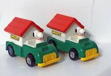 LOT OF 2 AVIVA SNOOPY DOG HOUSE GREEN No. C24 JAPAN 1/64