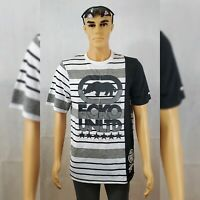 ECKO UNLTD TSHIRT MEN'S CREW NECK SHORT SLEEVE REGULAR FIT SIZE L BLACK/WHITE