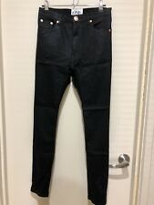 Size 24 One Teaspoon Black Waxed Denim Runaways Drop Crotch Jeans