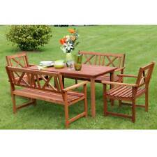 Outdoor Garden Furniture Wooden 6 Seat Rectangular Garden Set Table Chair Sale