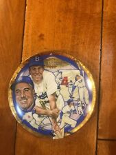 "Signed Duke Snider Collector Plate 6 1/2"" Mini ""The Legendary Duke Snider"