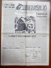 DON BASILIO 5 settembre 1948 Hitler e il Nazismo Acireale Piano Fanfani Chiesa