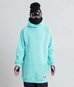 Men's NM4 oversized Hoodie Extra Tall Snowboard Ski Sweater mint