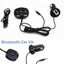 Black Wireless Bluetooth Handsfree Car Kit MP3 Player Speaker Charger For iPhone