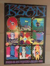 Original Ksan 95 Fm Radio Promo Poster Kelley Griffin 1969 Psychedelic