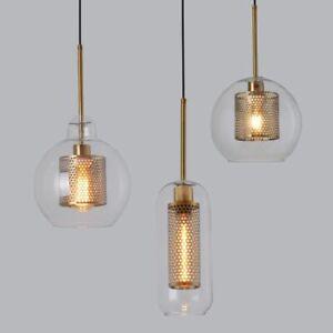 Glass Ball Hanging Lamp Loft Modern Pendant Light Fixture Hanglamp Room Luminair