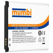 mumbi Akku für Samsung Galaxy Ace 2 / S3 mini / S Duos Ersatzakku 1700mAh